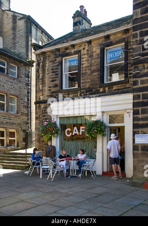 Sid's Cafe from the TV series 'Last of the Summer Wine'. Holmfirth, West Yorkshire UK. - Stock Photo
