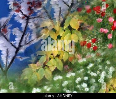 DIGITAL ART: Four Seasons - Stock Photo