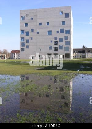 Sanaa school of management and design Zeche Zollverein UNESCO world heritage Essen Nordrhein Westfalen Germany - Stock Photo