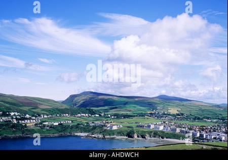 Port Erin Town Bay Isle of Man UK coastal scenery Manx coast coasts - Stock Photo