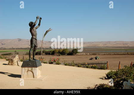 Statue at Mission San Juan Bautista State Park CA USA - Stock Photo