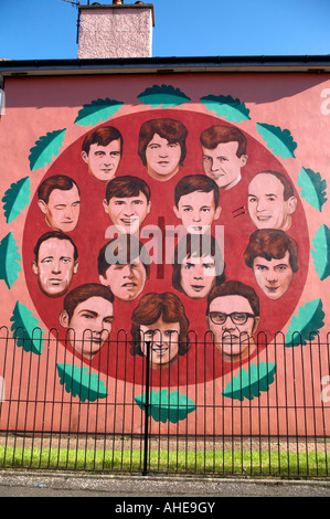 The bloody sunday mural by the bogside artists bogside for Bloody wall mural