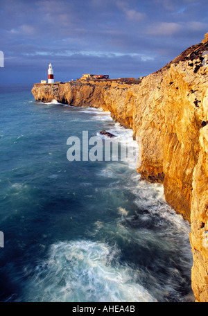 Lighthouse, Europa Point, Gibraltar - Stock Photo