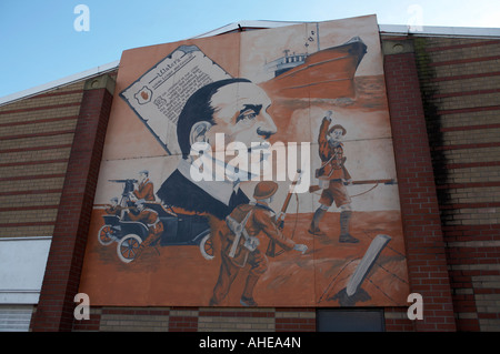 Loyalist wall murals paintings in rathcoole gable walls for Abbey road mural