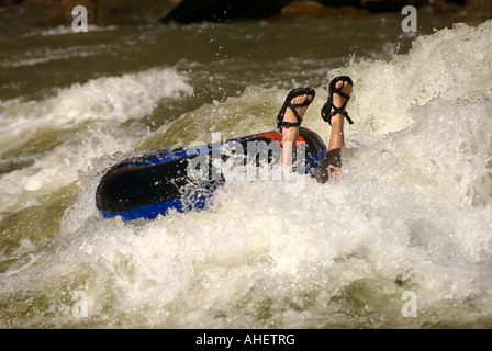 Man Water Swimming Floatation Life Preserver Swimming Ring Pool Stock Photo 283605944 Alamy
