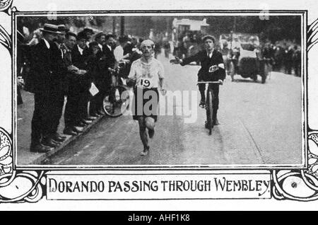 Olympics 1908 Marathon - Stock Photo
