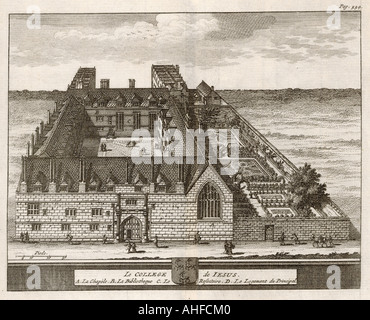 Jesus College 1675 - Stock Photo