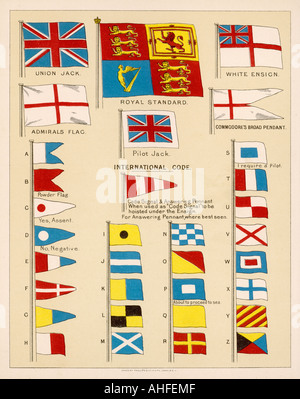 Flags Of Royal Navy - Stock Photo