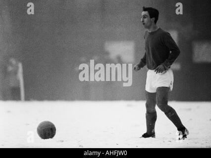 football, Bundesliga, 1966/1967, Boekelberg Stadium, Borussia Moenchengladbach versus FC Schalke 04 11:0, goal fest - Stock Photo