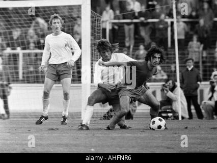 football, Bundesliga, 1972/1973, Niederrhein Stadium in Oberhausen, Rot-Weiss Oberhausen versus FC Bayern Munich - Stock Photo