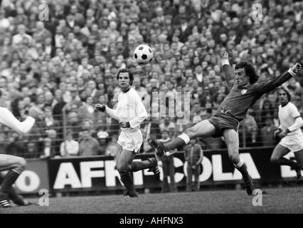 football, Bundesliga, 1972/1973, VfL Bochum versus FC Schalke 04 2:0, Stadium at the Castroper Strasse in Bochum, - Stock Photo