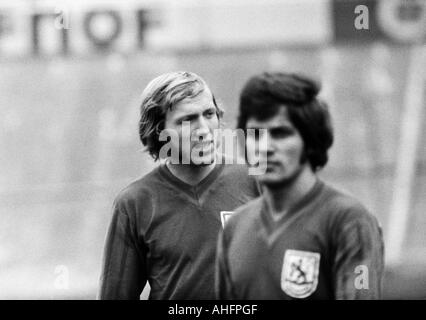 football, Bundesliga, 1972/1973, Stadium am Zoo in Wuppertal, Wuppertaler SV versus FC Bayern Munich 1:1, football - Stock Photo