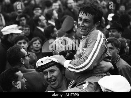 football, DFB Cup, quarter final, 1967/1968, Ruhr Stadium in Bochum, VfL Bochum versus Borussia Moenchengladbach - Stock Photo