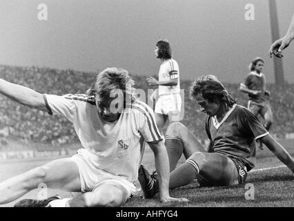 football, Bundesliga, 1973/1974, FC Schalke 04 versus VfL Bochum 3:1, Park Stadium in Gelsenkirchen, scene of the - Stock Photo