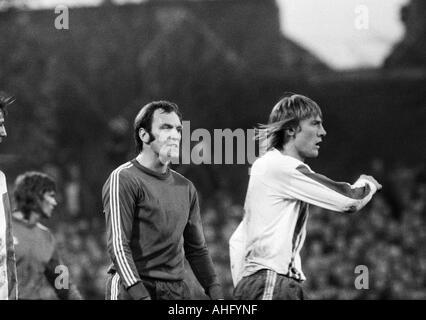 football, Bundesliga, 1973/1974, VfL Bochum versus FC Bayern Munich 0:1, Stadium at the Castroper Strasse in Bochum, - Stock Photo