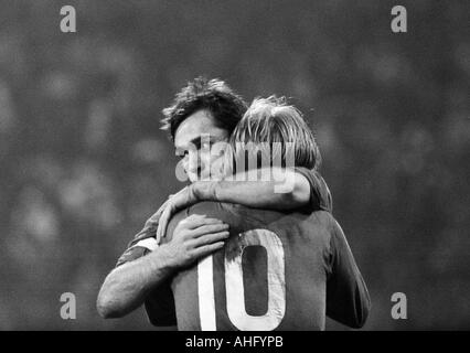 football, Bundesliga, 1973/1974, FC Schalke 04 versus 1. FC Cologne 2:2, Park Stadium in Gelsenkirchen, scene of - Stock Photo