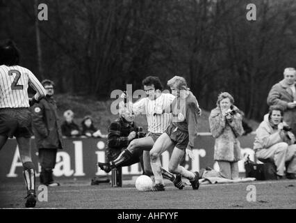 football, Regionalliga West, 1973/1974, Lohrheide Stadium in Bochum-Wattenscheid, SG Wattenscheid 09 versus Sportfreunde - Stock Photo
