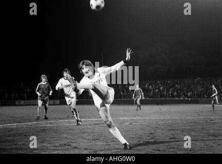 football, second Bundesliga North, 1974/1975, Rot-Weiss Oberhausen versus Preussen Muenster 2:1, Niederrhein Stadium - Stock Photo