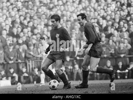 football, Bundesliga, 1966/1967, Boekelberg Stadium in Moenchengladbach, Borussia Moenchengladbach versus FC Bayern - Stock Photo