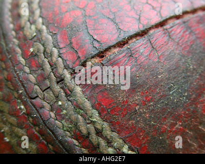 Cricket ball, well used - Stock Photo