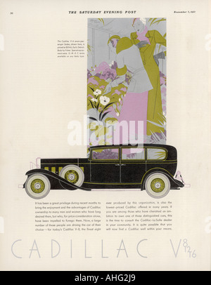 Cadillac Advert - Stock Photo