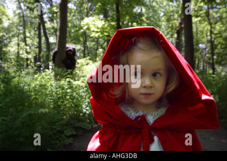 the wolf and little red riding hood - Stock Photo