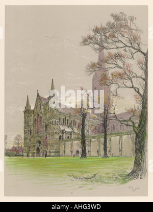 Salisbury Cathedral 1924 - Stock Photo