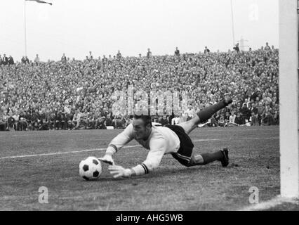 football, Regionalliga 1968/1969, promotion match to the Bundesliga 1969/1970, Rot-Weiss Oberhausen versus Freiburger - Stock Photo