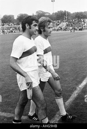 football, Bundesliga, 1970/1971, Niederrhein Stadium in Oberhausen, Rot-Weiss Oberhausen versus VfB Stuttgart 1:2, - Stock Photo