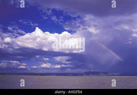 Lake Baringo in the Great Rift Valley Kenya East Africa - Stock Photo