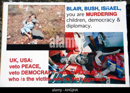 Anti war anti USA posters Stock Photo