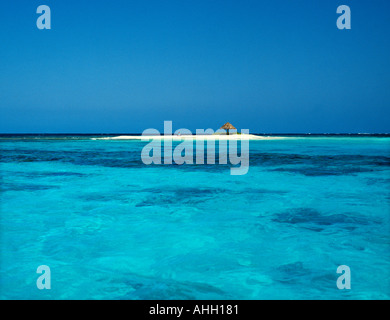Solitude on your own Caribbean Island - Stock Photo