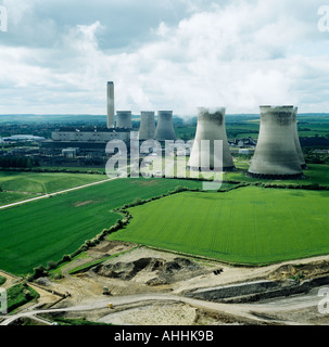 Didcot Power Station Oxfordshire UK aerial view - Stock Photo