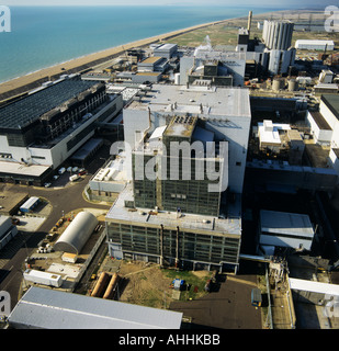 Dungeness Nuclear Power Station Kent UK aerial view - Stock Photo