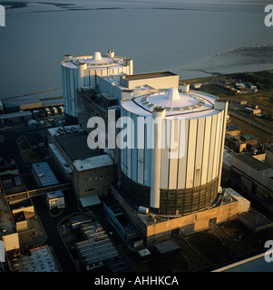 Oldbury Nuclear Power Station Severn Estuary UK aerial view - Stock Photo
