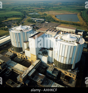 Oldbury Nuclear Power Station Gloucestershire UK aerial view - Stock Photo