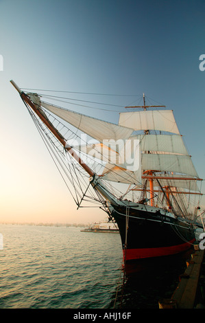 The Star of India is the world s oldest active ship Maritime Museum of San Diego California - Stock Photo