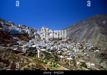 Mountain Village Olympos Karpathos Greece - Stock Photo