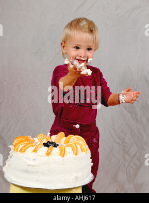 children birthday fruit cake cut out cropped white background outline cutout party costumes dessert develop develo - Stock Photo