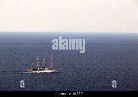 Mykonos Greece sailing ship - Stock Photo