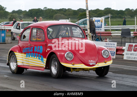 vw drag car beetle dragster dragsters race racing volkswagen rear Stock Photo: 61649783 - Alamy