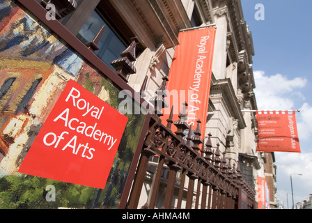 Royal Academy of Arts Burlington House on Piccadilly in London UK - Stock Photo