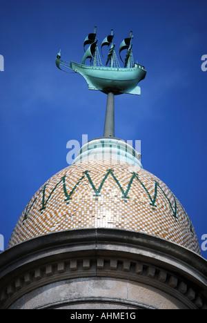 Mayflower Memorial, Southampton, Hampshire, England, United Kingdom - Stock Photo