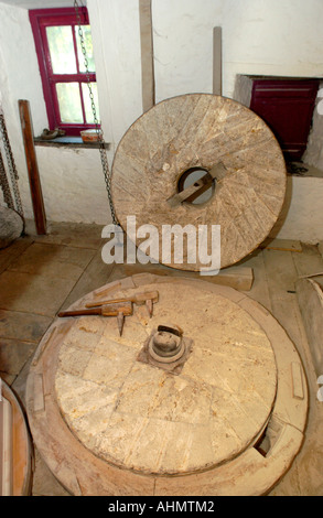 Y Felin 17th Century Flour Mill Grinding Stone With Thrift And Bill Dressing Tools At St