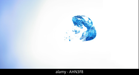 bubbles under water in the shape of a laughing face laughter which formed accidentally - Stock Photo