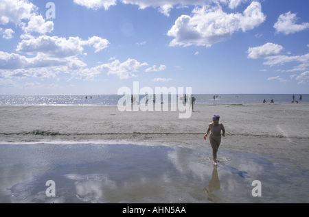 Beach Parnu Estonia - Stock Photo