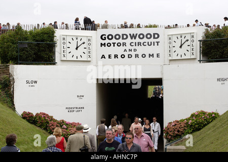 Goodwood motor circuit and aerodrome Chichester England UK - Stock Photo