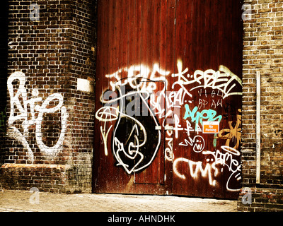 Grafitti on a wall - Stock Photo