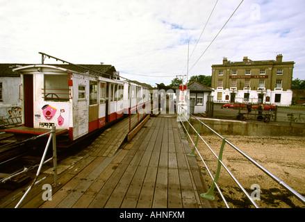 UK Hampshire Hythe Pier electric railway - Stock Photo
