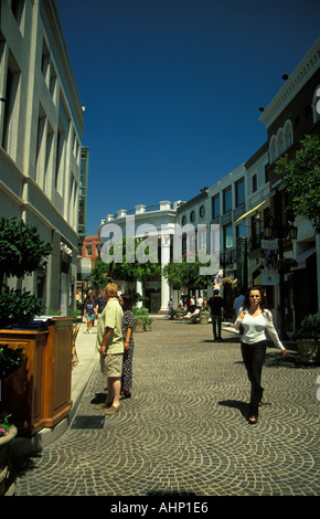 Rodeo Drive Beverly Hills Los Angeles California - Stock Photo